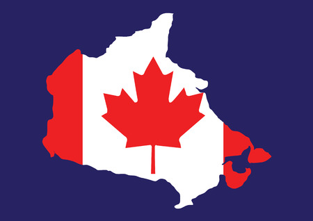 alberta: Canada map with flag inside, canada map vector, map vector