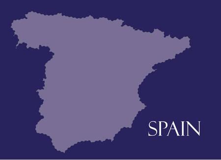 spain map: Spagna Mappa in sfondo viola, spagna mappa vettoriale, vettore mappa