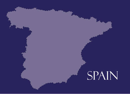 majorca: Spain map in purple background, spain map vector, map vector