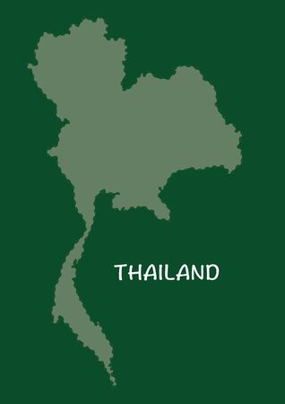 Thailand map in green background, thailand map vector, map vector Vector
