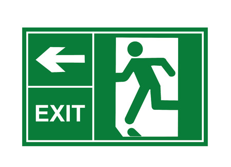 exit sign vector, exit signs, sign vector, exit vector Ilustrace