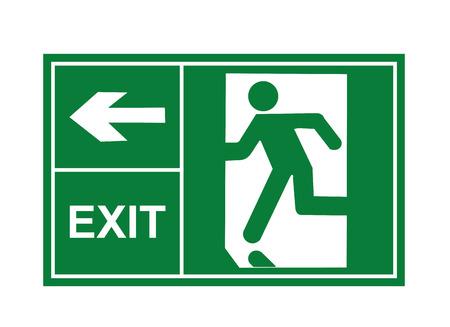 exit teken vector, afrit borden, teken vector, exit vector Vector Illustratie