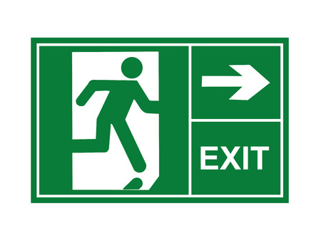 Ausgangsschild Vektor, Ausfahrt Zeichen, Zeichen, Vektor, Vektor-Ausfahrt Standard-Bild - 39475477