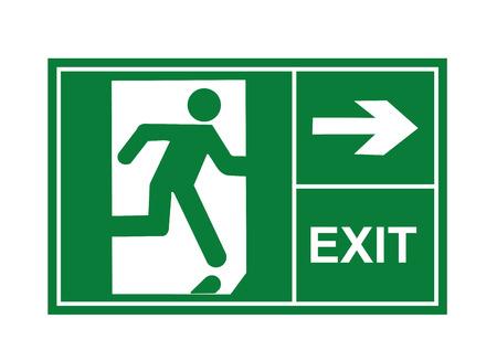la sortie signe vecteur, enseignes de sortie, signe vecteur, vecteur de sortie