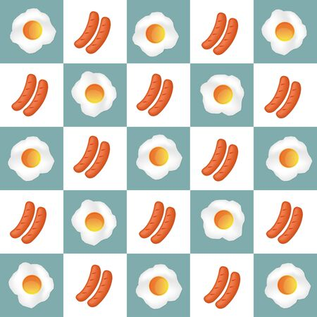 sausages: Delicious Breakfast with Egg and Sausages, sausages vector