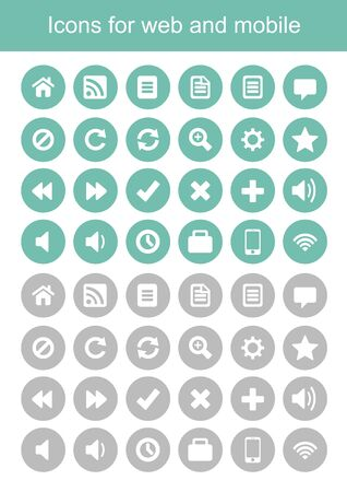 icons for web and mobile, icons vector Illustration