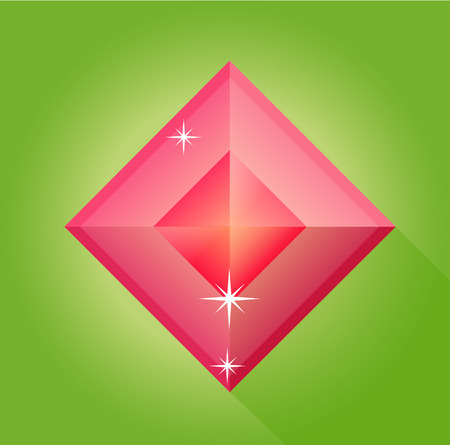 a precious: ruby vector in green background, ruby vector, red precious, jewels