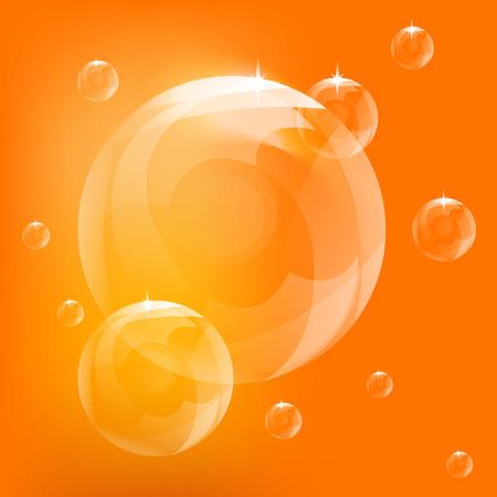 현실적인 거품 벡터, 오렌지 거품, 거품 벡터
