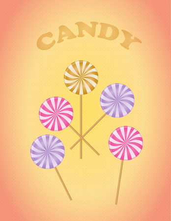 algodon de azucar: vector de caramelo, dulce de caramelo Vectores