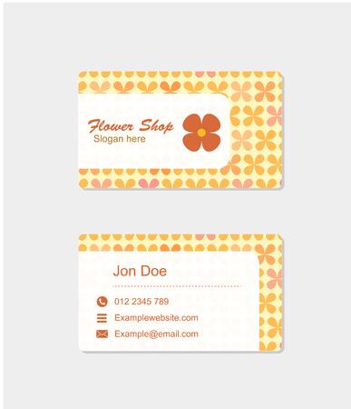 business card: business card, flower shop business card, business card vector Illustration