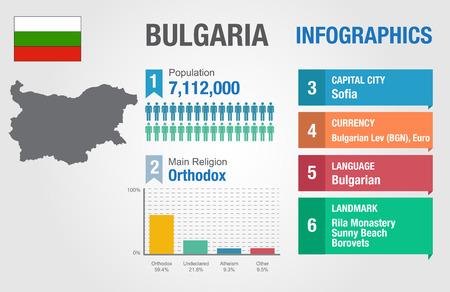 statistical: Bulgaria infographics, statistical data, Bulgaria information, vector illustration