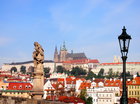 View of the Lesser Bridge Tower of Charles Bridge in Prague Karluv Most the Czech Republic photo