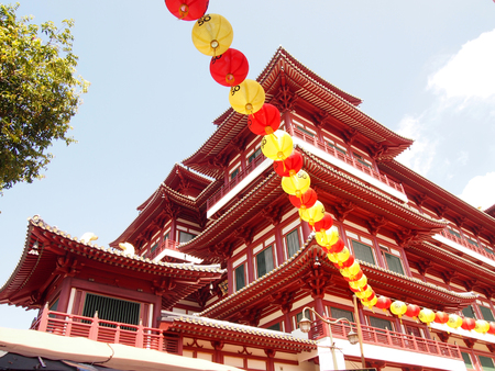 venerable: Buddha Tooth Relic Temple in China Town Singapore Editorial