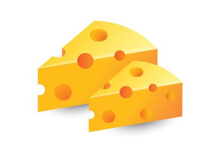 queso blanco: queso aislado queso queso vector Vectores