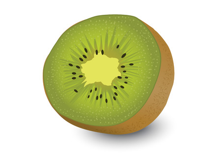 sliced fruit: kiwi fruit kiwi fruit isolated white background