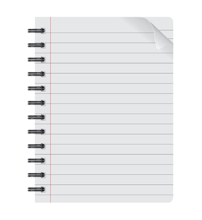 realistic spiral notepad notebook isolated on white vector isolated paper sheet Paper sheet