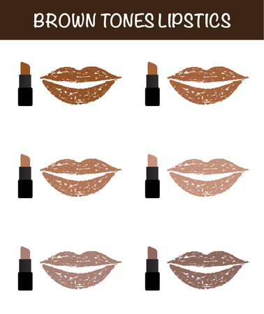 the lipstick: brown tones lipsticks lipstick on lips lipsticks vector.
