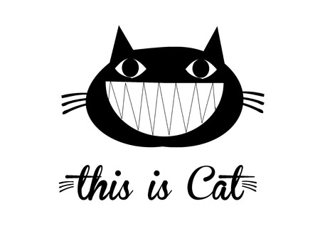this: This is cat, cat vector, cute cat. isolated background