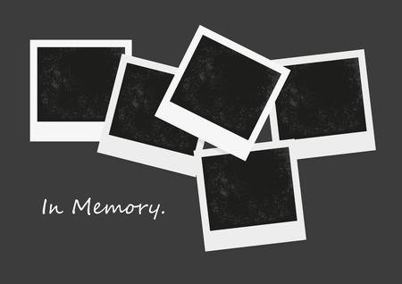 写真の空白、負の写真、レトロなフォト フレームのベクトル