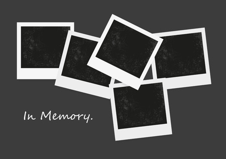 vintage photo frame: Vector of photo blank, negative photo, retro photo frame