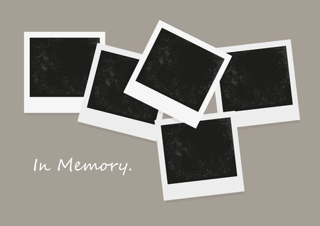 photo: Vector of photo blank, negative photo, retro photo frame