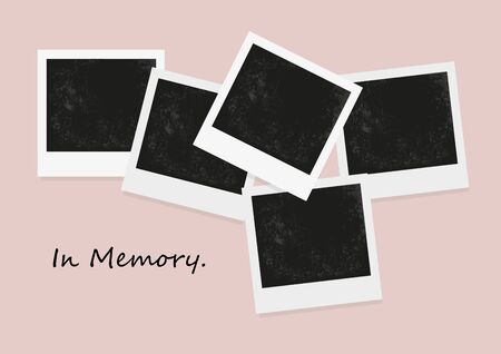 photo collage: Vector of photo blank, negative photo, retro photo frame
