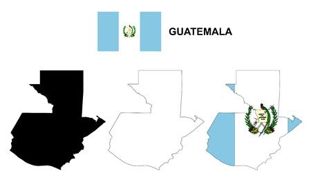 bandera de guatemala: Guatemala mapa vectorial, Guatemala bandera vector, aislado Guatemala Vectores
