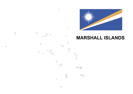 marshall: Marshall Islands map and flag