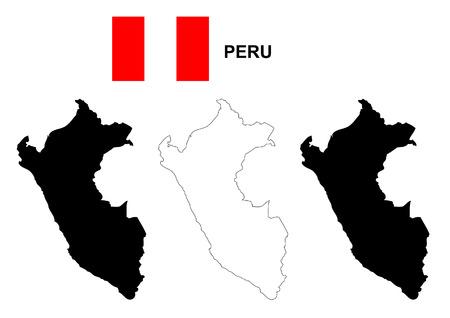 mapa del peru: Perú mapa y la bandera