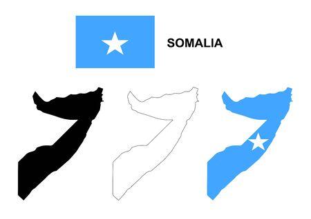 pentacle: Somalia map and flag