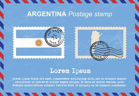 sello postal: Sello de Argentina, sello, sello de la vendimia, el correo a�reo sobre.