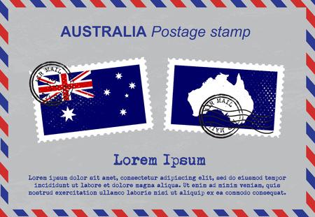 australia stamp: Australia postage stamp, postage stamp, vintage stamp, air mail envelope.