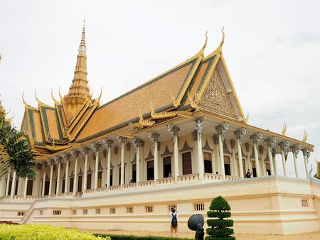 PHNOM PENH, CAMBODIA - 5 May, 2017: Royal palace in Phnom Penh, Cambodia. Editorial