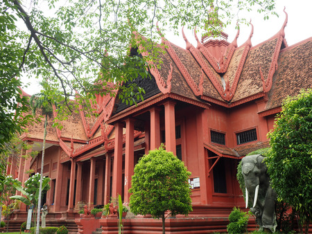 Phnom Penh, Cambodia - 5 May 2017: National Museum in Phnom Penh, Cambodia.