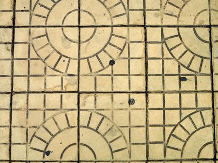 Tiled floor pattern, square pattern. Standard-Bild