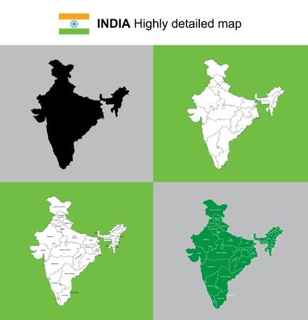 India map illustration.