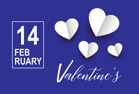 Valentines day vector with hearts background. 14 February