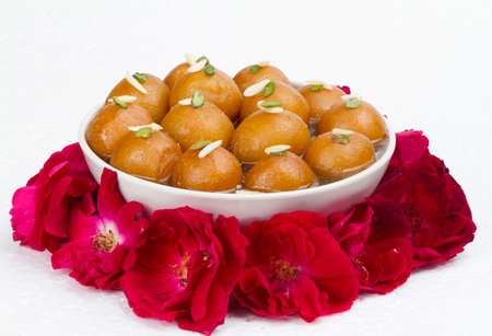 Indian Traditional Sweet Food Gulab Jamun Stock Photo