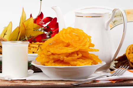 Indian special traditional sweet food JALEBI