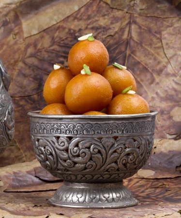 Indian Traditional Sweet Food Gulab Jamun Stock Photo