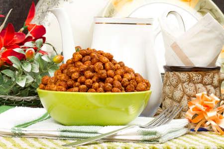 ramzan: Indian special traditional salty food CHANA MASALA spicy gram namkeen
