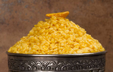 Indian special traditional namkeen food MOONG DAL