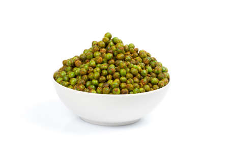 Indian special traditional salty food MASALA MATAR spicy peas