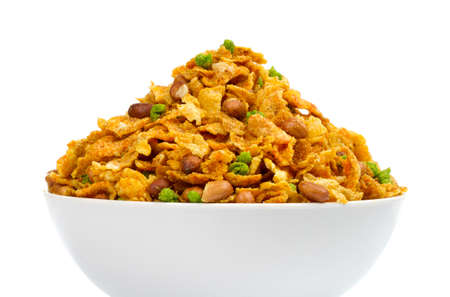 Indian special traditional salty food CHIVADA Namkeen