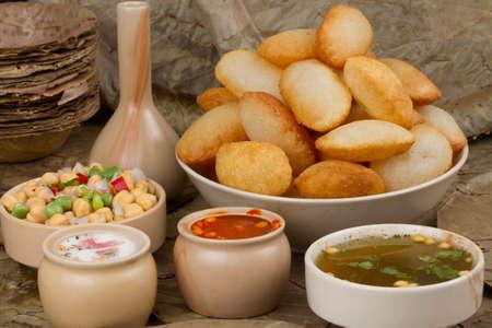 Spicy Gol Gappa indian street food Stock Photo