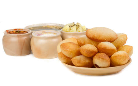 Indian special traditional Street food Gol Gappa
