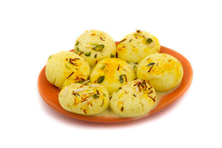 pistachio: Indian special traditional sweet food Ras Malai