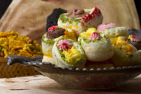pistachio: Indian Traditional Bengali Sweet Food Famous in kolkata State on india Stock Photo
