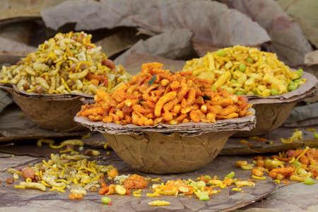 Indian special traditional salty food Rajasthani mixture namkeen