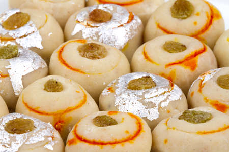 Indian special traditional sweet food Anarkali Peda Stock Photo